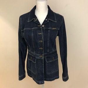 Liz Claiborne Fitted Jean Jacket
